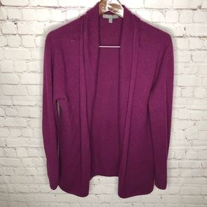 Neiman Marcus 100% Cashmere Open Cardigan Sweater